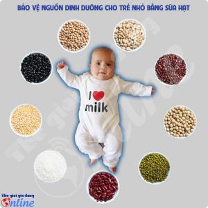 Dinh dưỡng cho trẻ nhỏ nhờ tác dụng của sữa hạt