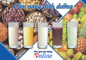 Cẩm nang 16 Công thức làm sữa hạt & sinh tố