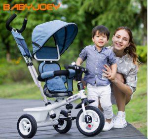 Xe đẩy trẻ emJOEY ( thương hiệu hàng đầu thế giới về các sản phẩm chăm sóc sức khỏe bà mẹ và trẻ em).Với thiết kế thông minh tay đẩy hai chiều, hệ thống 8 bánh xe linh hoạt, khung kim loại chắc chắn, xe lót bông ấm áp mềm mại, bổ sung thêm giỏ đựng đồ tiện lợi; xe đẩy trẻ em nâng đỡ bé hoàn hảo trong suốt quá trình di chuyển, để bé yêu của bạn được thoải mái và an toàn nhất. Sản phẩm phù hợp sử dụng từ khi bé sơ sinh. Đặc điểm nổi bật của sản phẩm:Xe đẩy trẻ em JOEYđược trang bị hệ thống 8 bánh xe đôi kết hợp chốt khóa chống xoay tròn bánh giúp mẹ và bé di chuyển hiệu quả. Phanh an toàn chốt ở hai bánh phía sau, có thể bật mở dễ dàng mỗi khi mẹ dừng xe. Mái che rộng rãi, bảo vệ bé khỏi tia nắng mặt trời gây hại với mái che phía trên có thể điều chỉnh theo 3 tư thế: Nằm, ngồi, ngả thay đổi phù hợp với nhu cầu của bé. Chức năng đẩy hai chiều tiện lợi cho mẹ. Ba mẹ có thể để bé hướng mặt vào trong khi di chuyển (bảo vệ an toàn cho bé khi đến những địa điểm đông người). Bé được nâng đỡ hoàn hảo trên lớp đệm bông êm ái mềm mại với chất liệu cotton thấm hút mồ hôi nhanh và thoáng mát. Lớp đệm trên xe cũng có thể tháo ra đê vệ sinh sạch sẽ dễ dàng. Bổ sung thêm giá để đồ tiện lợi ớ phía dưới để đựng những vật dụng cần thiết cho mẹ và bé (bỉm, sữa, khăn...).