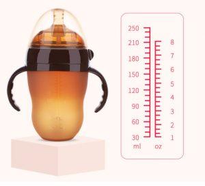 Chất liệu nhựa PPSU siêu nhẹ và bền đẹp Đầu núm siêu mềm cho bé bú thoải mái Thiết kế làm mờ tạo cảm giác gần gũi