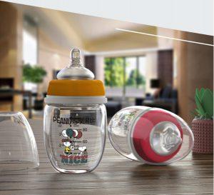 Chất liệu an toàn Thiết kế núm ty thông minh Phù hợp cho bé sơ sinh trở lên